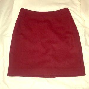 J crew pencil skirt (red) velvet